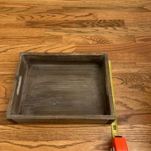 Large Wooden Farmhouse Decoration Tray with Handle